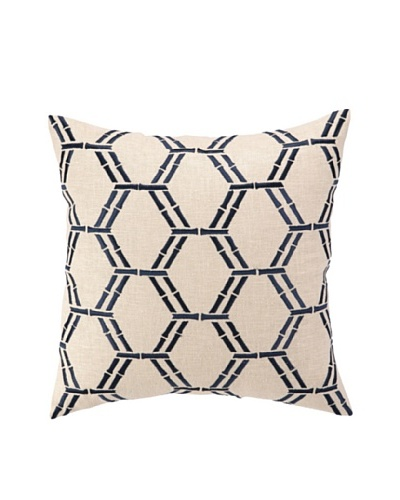 Peking Handicraft Bamboo Pillow, Navy