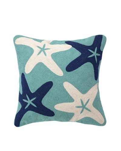 Peking Handicraft Starfish Crewel Pillow