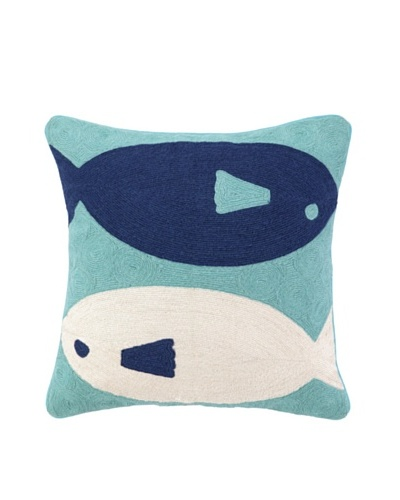 Peking Handicraft Fish Crewel Pillow