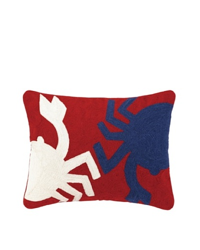Peking Handicraft Crab Crewel Pillow