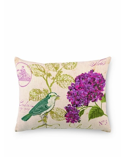 Peking Handicraft Nature Study #3 Embroidered Pillow