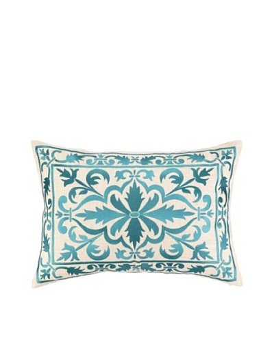 Peking Handicraft Buckingham Pillow, Aquamarine