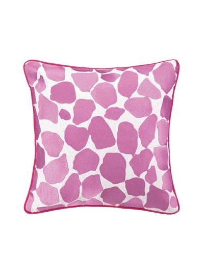 Peking Handicraft Hotel Monaco Pillow, Pink Animal Print