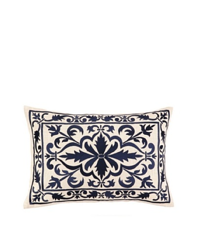 Peking Handicraft Buckingham Pillow, Navy