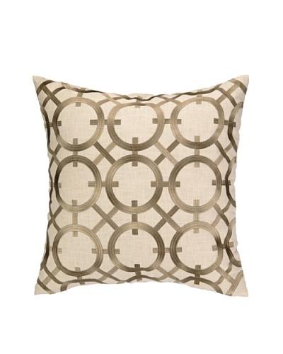 Peking Handicraft Parisian Lights Pillow, Greige