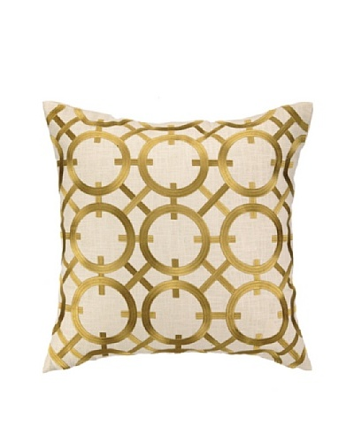 Peking Handicraft Parisian Lights Pillow, Citron