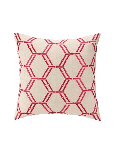 Peking Handicraft Bamboo Pillow, Pink