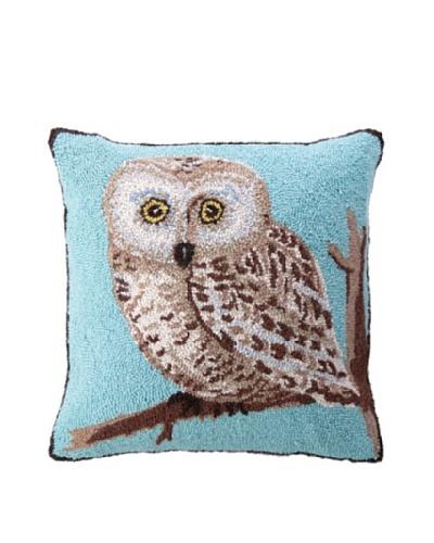 """Warren Kimble Hook Pillow, Blue Owl, 18"""" x 18"""""""