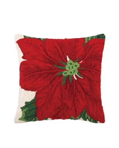 Poinsettia Hook Pillow