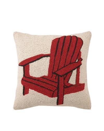 Peking Handicraft Red Adirondack Chair Hook Pillow