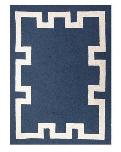 "Peking Handicraft Simple Greek Key Rug, Blue, 2' 10"" x 3' 11"""