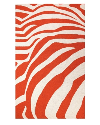 Peking Handicraft Zebra Rug [Orange]
