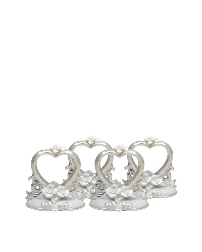 Perfect Wedding Set of 4 Hand-Made Napkin Rings/Place Card Holders