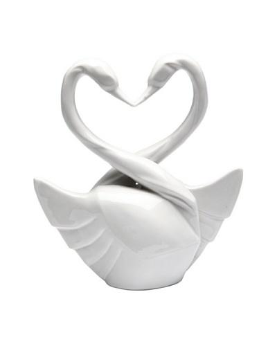 Perfect Wedding Swan Porcelain Cake Topper