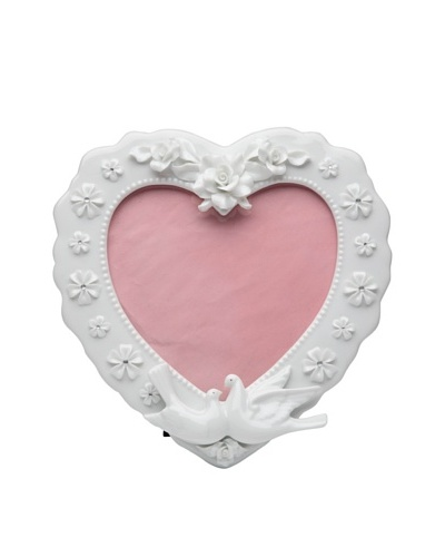Perfect Wedding Heart-Shaped Rose Picture Frame, 5 x 5