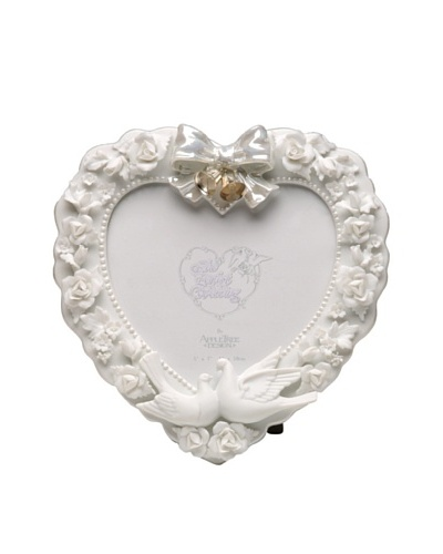Perfect Wedding Roses & Doves Porcelain Photo Frame, 5 x 7