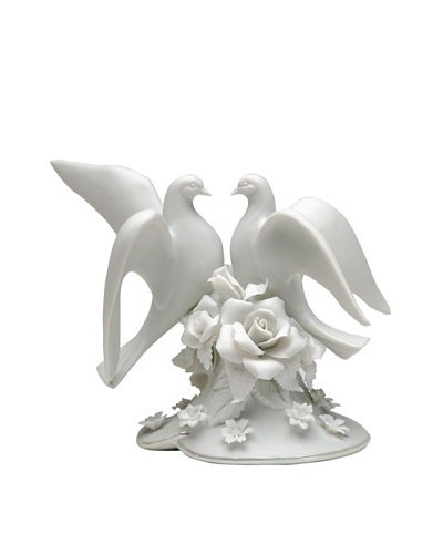 Perfect Wedding Two Doves Hand-Made Porcelain Cake Topper