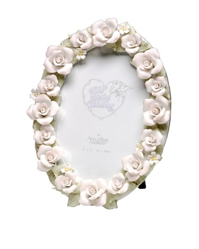 Perfect Wedding Fire & Ice Rose Porcelain Photo Frame, 5 x 7
