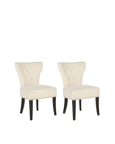 Safavieh Mercer Collection Set of 2 Broome Side Chairs, Cream