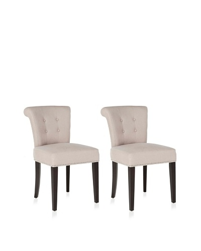 Safavieh Mercer Collection Set of 2 Sinclair Ring Chairs, Taupe