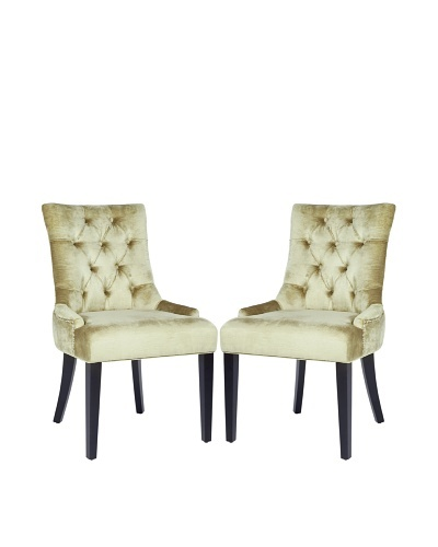 Safavieh Set of 2 Ashley Side Chairs, Gold