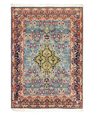 Roubini One of a Kind Old Kum with Silk Rug