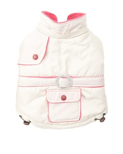 Pet Life Two-Toned Fashion Parka [Beige/Pink]