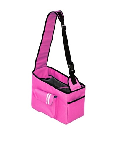Pet Life Hands-Free Summit Shoulder Dog Carrier, Pink/Black, Medium