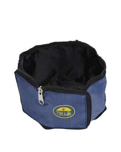 Pet Life Wallet Travel Pet Bowl, Blue