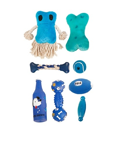 Pet Life Pet Toy Set in Duffel Bag, Blue