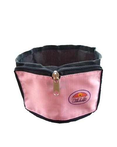 Pet Life Wallet Travel Pet Bowl, Pink