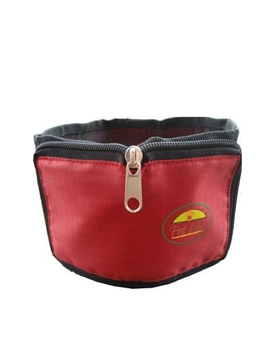 Pet Life Wallet Travel Pet Bowl, Red