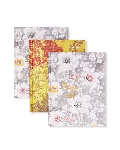 Peter Pauper Press Set of 3 Flower Journals