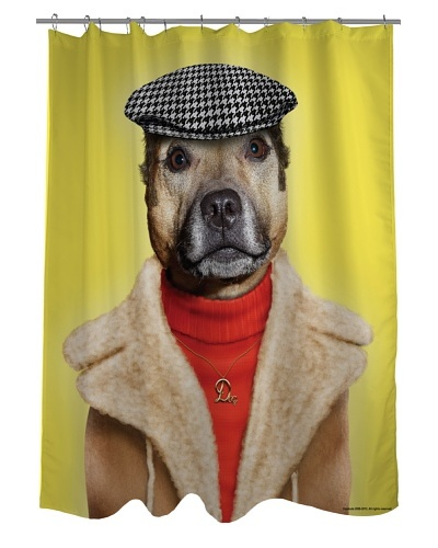 Pets Rock Dog Boy Shower Curtain