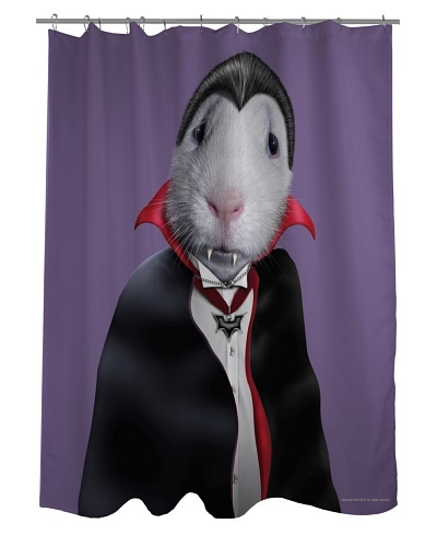 "Pets Rock ""Dracula"" Shower Curtain"