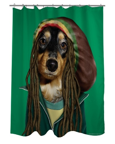 Pets Rock Reggae Shower Curtain