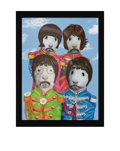 """Pets Rock """"Furry Four"""" Framed Art"""