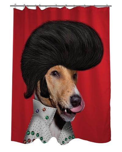Pets Rock Rock n' Roll Shower Curtain