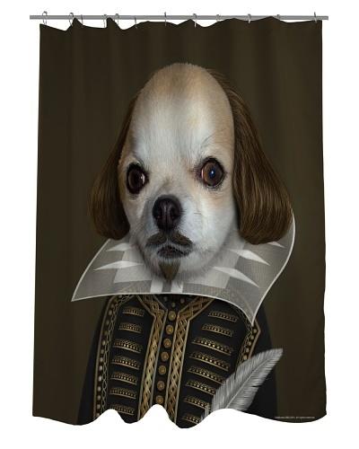 Pets Rock Shakespeare Shower Curtain