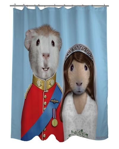 Pets Rock Mr. & Mrs. Shower Curtain