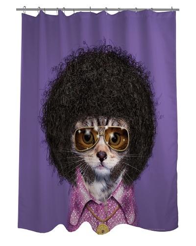 Pets Rock Disco Shower Curtain