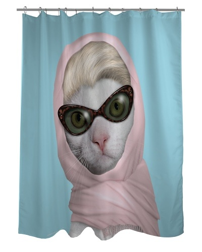 Pets Rock Princess Shower Curtain