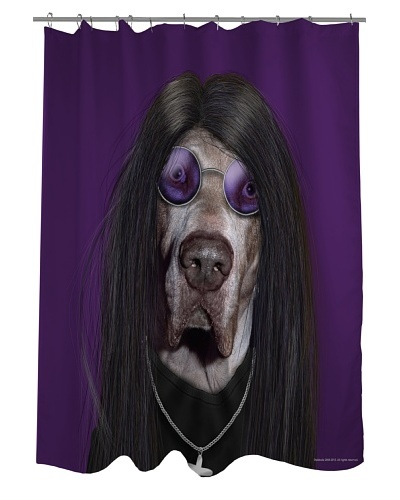 Pets Rock Metal Shower Curtain