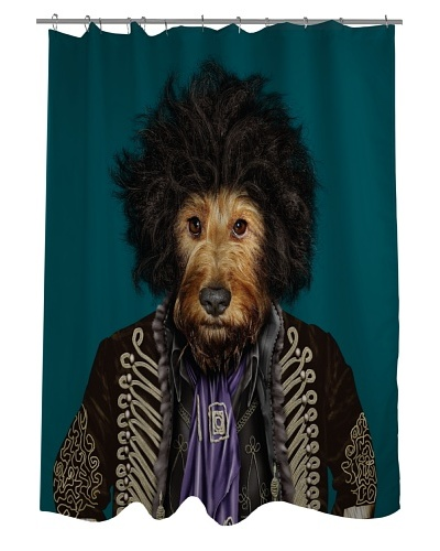Pets Rock Psychedelic Shower Curtain