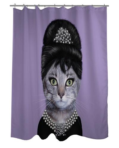 Pets Rock Breakfast Shower Curtain