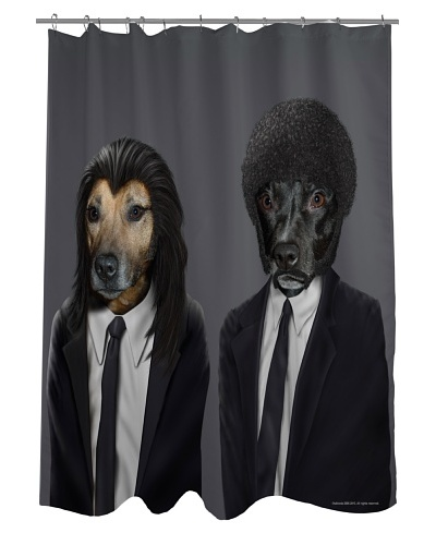 Pets Rock Hit Dogs Shower Curtain