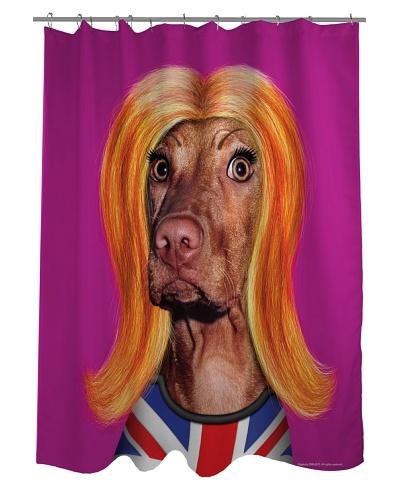 Pets Rock Redhead Shower Curtain