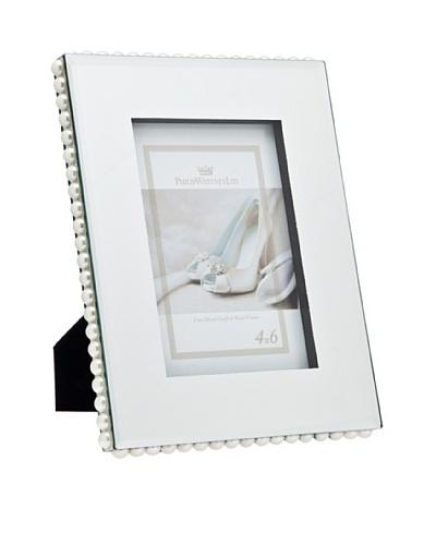 Philip Whitney Mirror & Faux Pearl Border 4x6 Frame