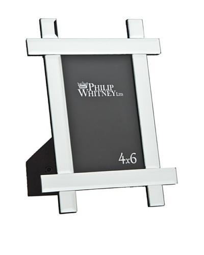 "Philip Whitney Mirror Crisscross 4""x6"" Frame"