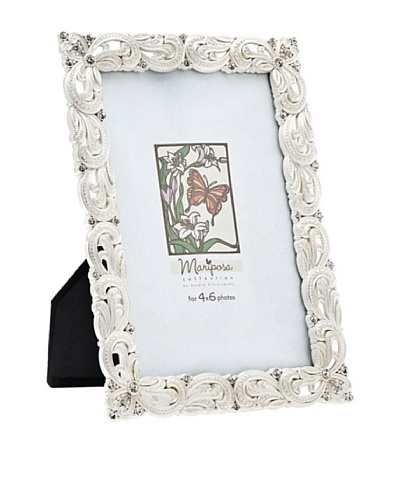 Philip Whitney Mariposa Silver Weave 4x6 Frame